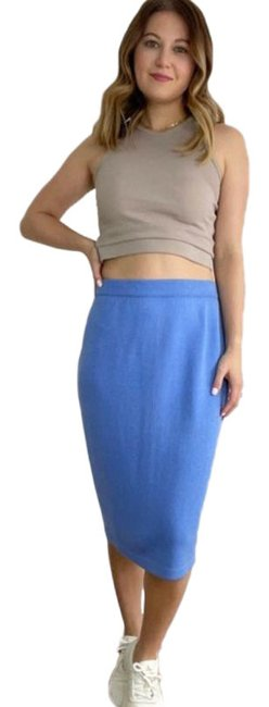 Item - Blue Classic Straight Knit Skirt Size 6 (S, 28)