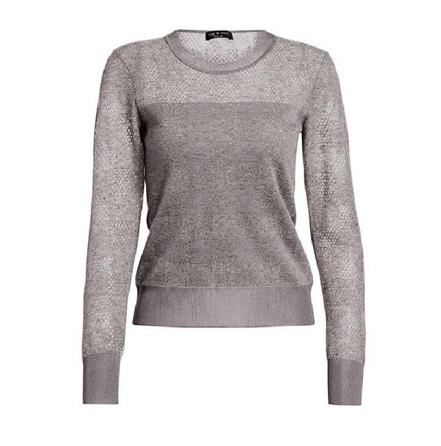 Item - Charlotte Alpaca Crew Slim Gray Sweater