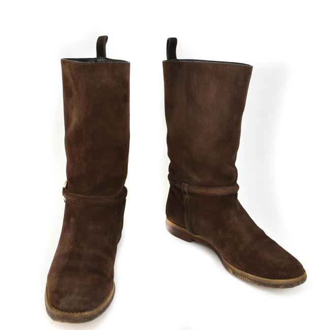 "Item - Brown Horsebit Suede Leather ""Horsebit"" Mid-calf Boots/Booties Size EU 37.5 (Approx. US 7.5) Regular (M, B)"