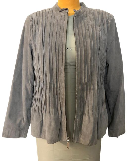 Item - Gray Suede Zippered Classic Jacket Size 18 (XL, Plus 0x)