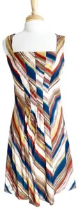 Classiques Entier Sleeveless Knee Length Stripes Fit And Flare Dress