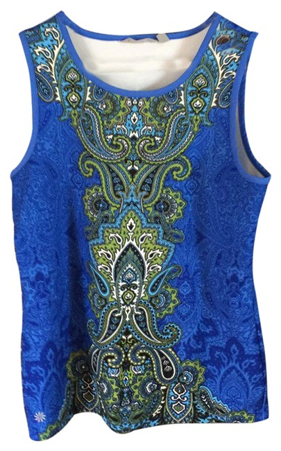 Item - Blue and Green Tank Top/Cami Size 8 (M)