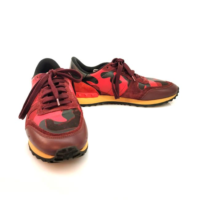 Item - Red & Black Camo Sneakers Size EU 38 (Approx. US 8) Regular (M, B)