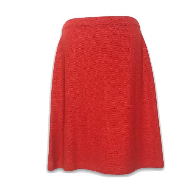 Item - Red Pique A-line Skirt Size 10 (M, 31)