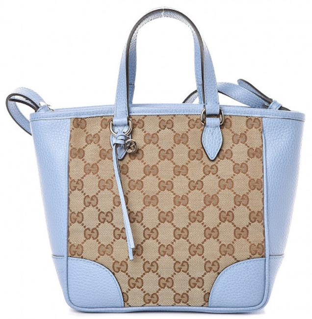 Item - Crossbody Bree New Small Gg Supreme ssima Tote Beige Brown Light Blue Leather Canvas Messenger Bag