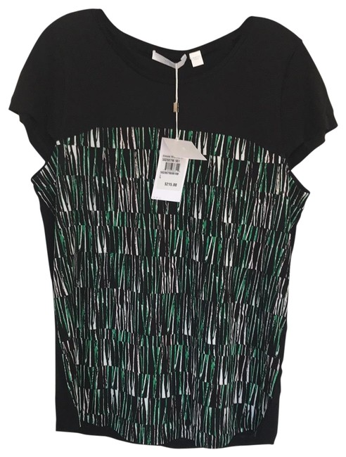 Item - Black Green White Ennusa 50288796981 Tee Shirt Size 12 (L)