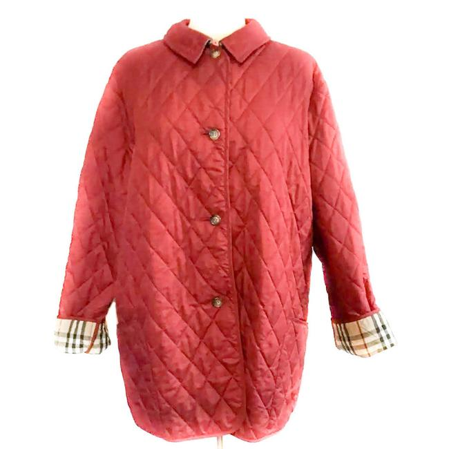 """Item - Red """"Constance"""": """"Nova Check"""" Diamond Quilted Jacket Size 12 (L)"""