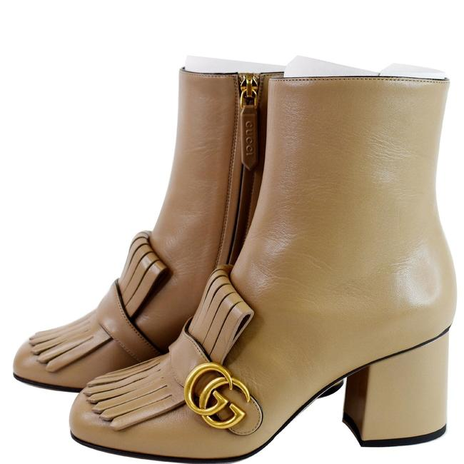 Item - Taupe Marmont Gg Fringed Leather Ankle 408210 Boots/Booties Size US 8 Wide (C, D)