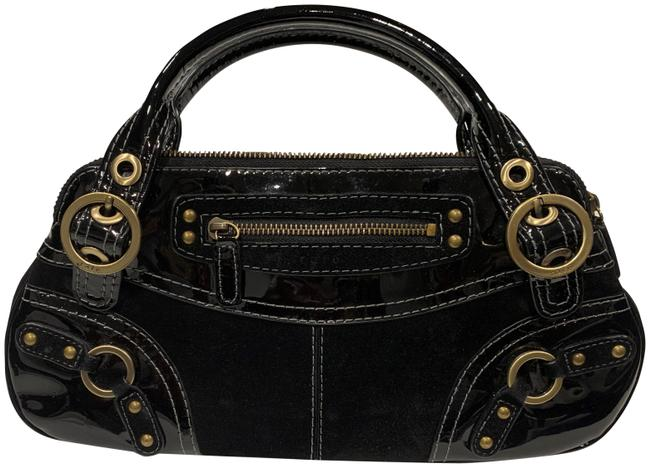 Item - Suede/Patent Purse Black Suede Leather Hobo Bag