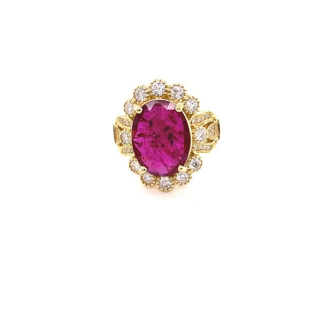 Item - Red Gia 4.25ct Natural Ruby No Heat 14k Yellow Gold Ring