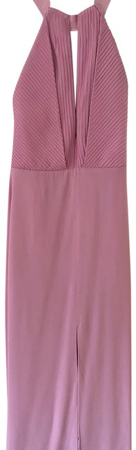 Item - Pink Pintuck Maxi Gown Long Formal Dress Size 4 (S)