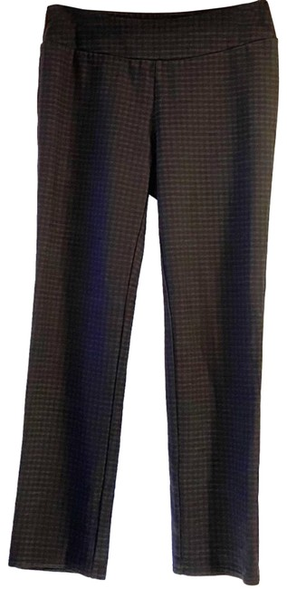 Item - Black Checkered Pull On Pants Activewear Bottoms Size 4 (S, 27)