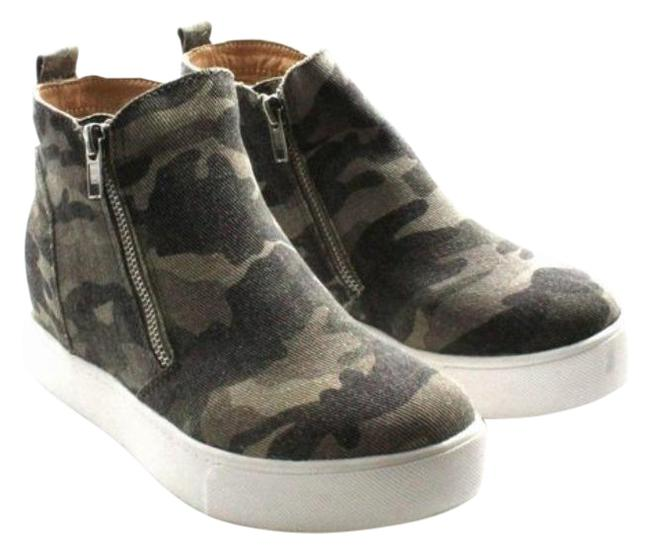 Item - Green Black The Matty Is A Hidden Wedge Sneaker with A Zipper Detail. Boots/Booties Size US 6.5 Regular (M, B)