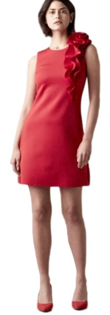Item - Red Nwot Ruffle Shoulder A-line Short Casual Dress Size 8 (M)