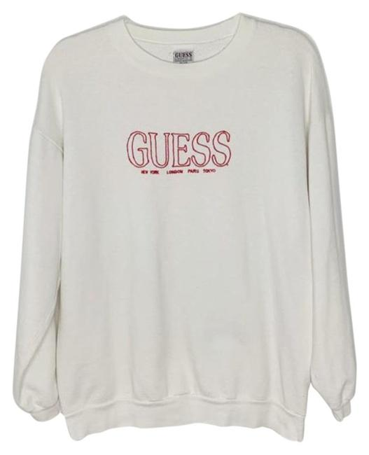 Item - White 90s Guess Embroidered Crewneck Sweatshirt/Hoodie Size 12 (L)