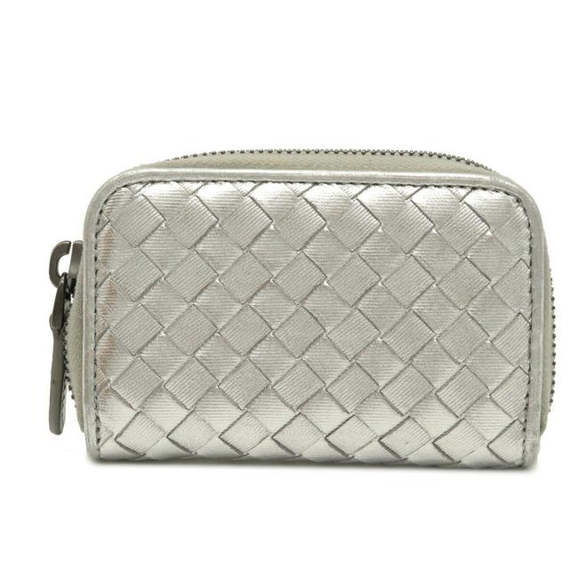 Item - Silver Intrecciato Coin Case Metallic Leather 114075 Wallet
