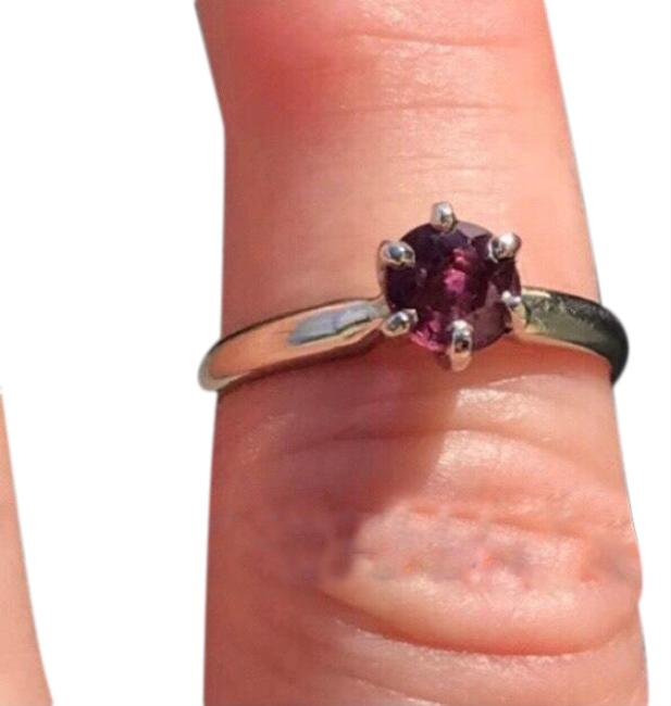 Item - Red/ White Gold .50 Ctw Ruby Solitaire 14 Kt Ring