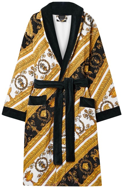 Item - Gold Printed Cotton-terry Robe Jacket Size 4 (S)