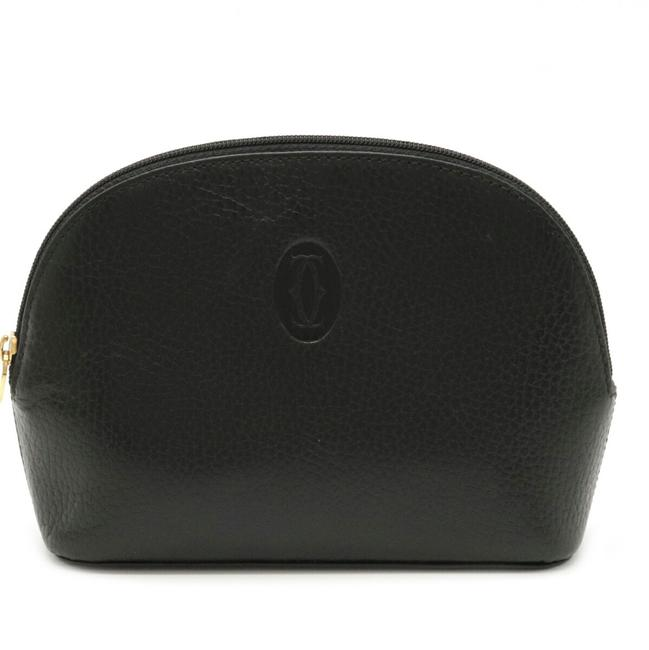 Item - Mastline Pouch Multi Gold Hardware Black Leather Clutch