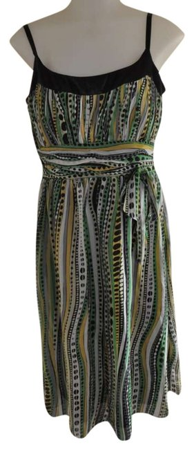 Preload https://img-static.tradesy.com/item/288278/sangria-green-yellow-and-black-above-knee-night-out-dress-size-8-m-0-0-650-650.jpg