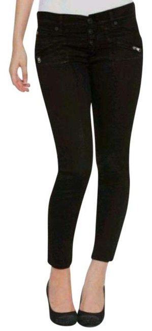 Item - Black Distressed Krista with Exposed Fly Skinny Jeans Size 27 (4, S)