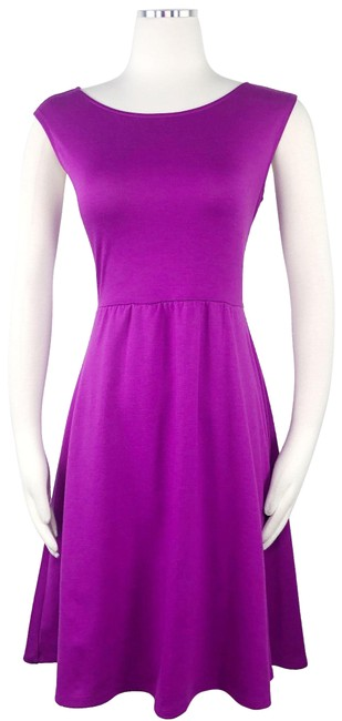 Old Navy Purple XS Ponte Fit & Flare Sleeveless Boat Neck A-line Short Casual Dress Size 0 (XS) Old Navy Purple XS Ponte Fit & Flare Sleeveless Boat Neck A-line Short Casual Dress Size 0 (XS) Image 1