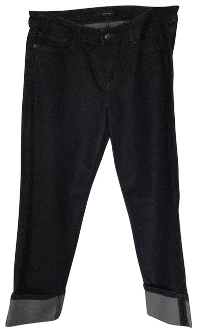 Item - Very Dark Blue Wash Rinse Lacy Capri/Cropped Jeans Size 10 (M, 31)