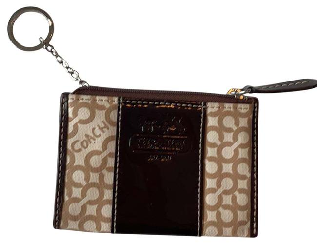 Item - Brown and White Card Holder Wallet
