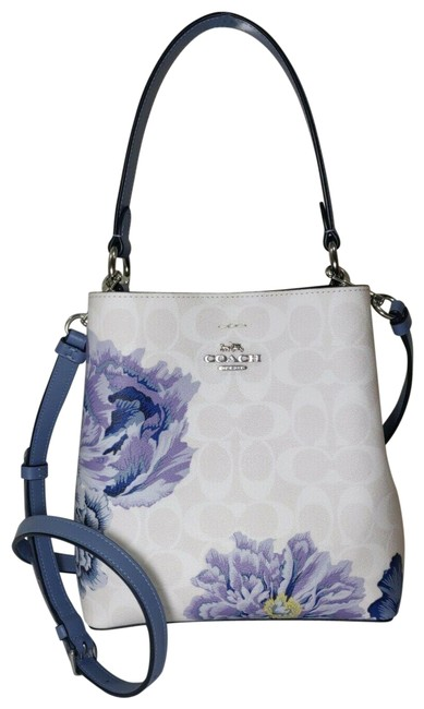 Item - Bucket 6024 Small Town Chalk Periwinkle Signature Canvas Cross Body Bag