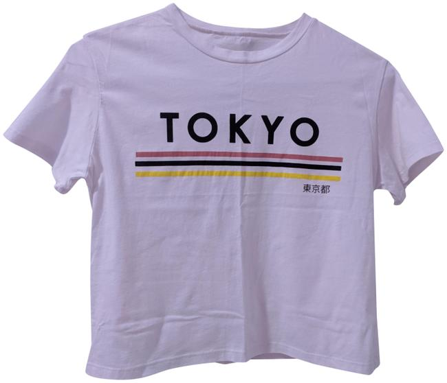 Item - White Cropped Tee Shirt Size 4 (S)