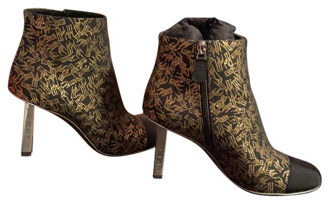 Item - Gold and Black Tweed Boots/Booties Size EU 38 (Approx. US 8) Regular (M, B)