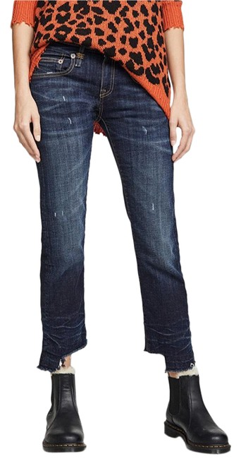 Item - Howell Indigo Dark Rinse Boy Straight Boyfriend Cut Jeans Size 0 (XS, 25)