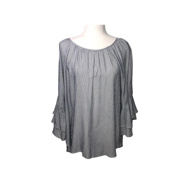 Item - Blue White & Small Blouse Size 6 (S)
