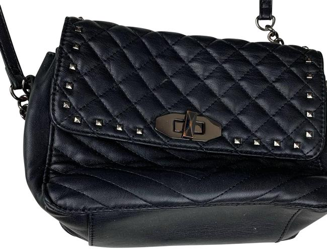 Item - Quilted Studded Black Cross Body Bag