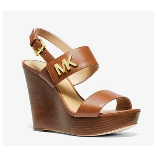 Item - Brown Deanna Leather Wedge Colour For Womens Sandals Size US 9.5 Regular (M, B)