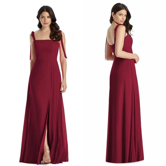Item - Red Burgundy Chiffon Gown Maxi Cocktail Dress Size 6 (S)