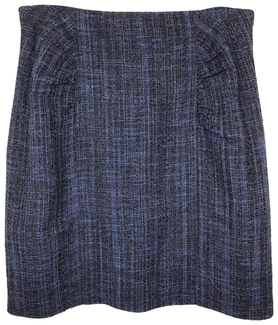 Item - Purple Tweed Pencil Skirt Size 12 (L, 32, 33)