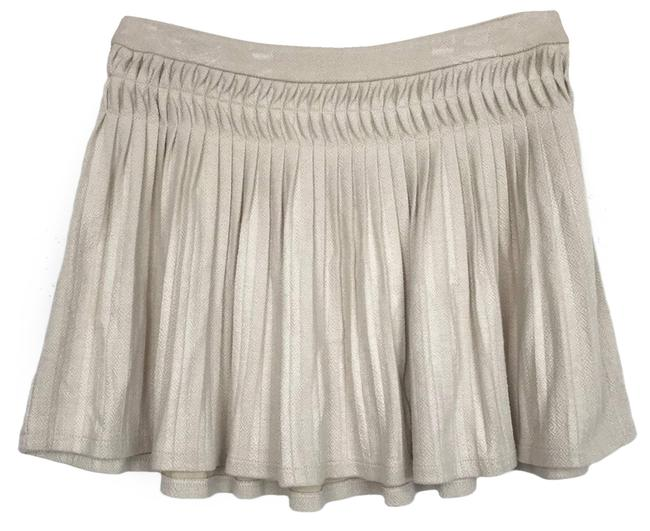 Item - Cream XS Ivory Pleated Skirt Size 0 (XS, 25)