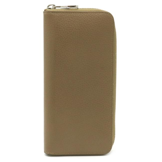Item - Beige Zippy Vertical Round Zipper Taurillon Leather M58805 Wallet