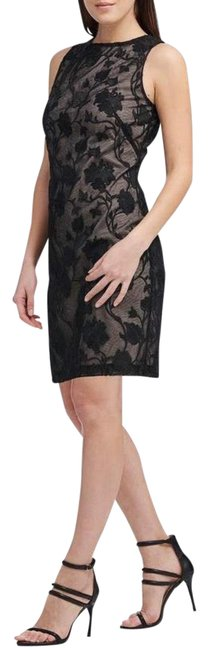 Item - Black Lace Mid-length Night Out Dress Size 10 (M)
