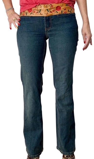 Item - Leather Waistband Jeans Activewear Bottoms Size 4 (S, 27)