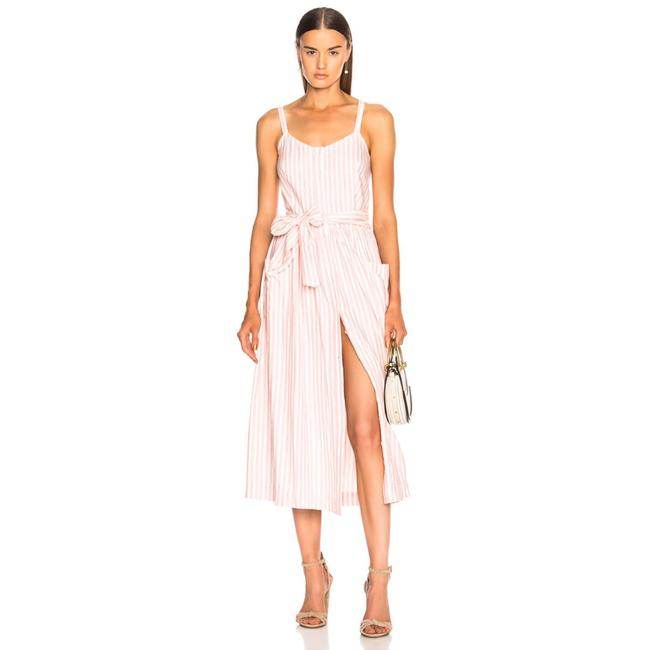 Item - Pink & White Stripe Button Down Carriage 0 Mid-length Casual Maxi Dress Size 0 (XS)