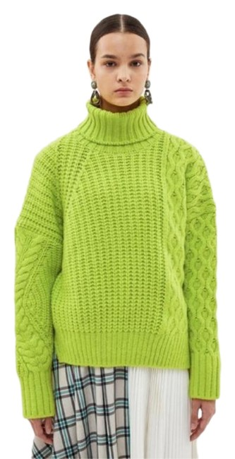 Item - Alto Wool Blend Turtleneck Green Sweater
