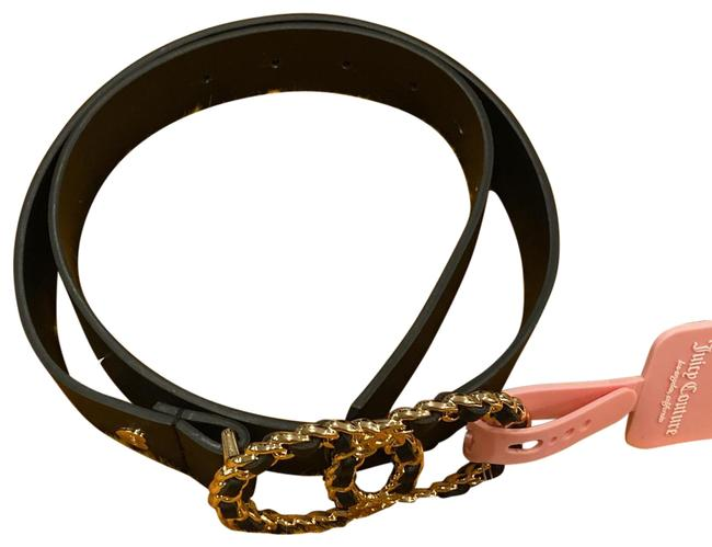 Item - Black with Gold Tone Buckle Belt
