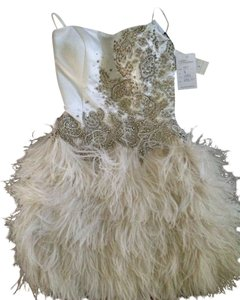 Sherri Hill Prom Feathery Embellished Diamonds Mini Sexy Wedding Party Brand New Elegant Dress