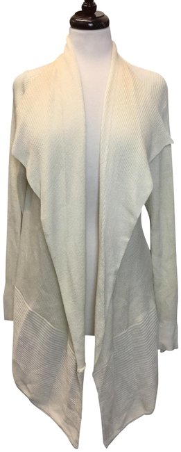 Item - Off White Open Front Long Sleeves Coverup Vest Size 24 (Plus 2x)