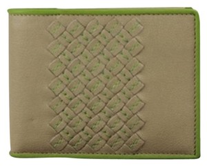 Bottega Veneta [ENTERPRISE] BVSL04 Bottega Veneta Taupe Green Wallet