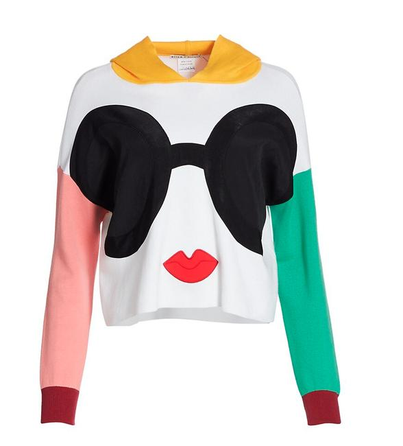 Item - Multi with Tag Oscar Stace Face Colorblock Sweatshirt/Hoodie Size 4 (S)