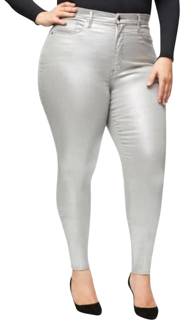 Item - Silver Legs Holographic Skinny Jeans Size 24 (Plus 2x)