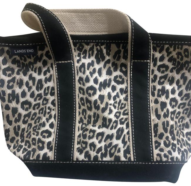 Item - With Animal Print Multicolor Canvas Tote